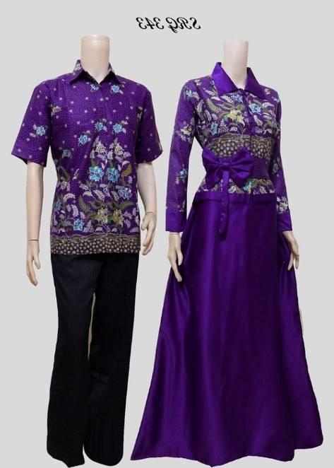 10 Model Baju Batik Muslim Couple Elegan Terbaru 2019