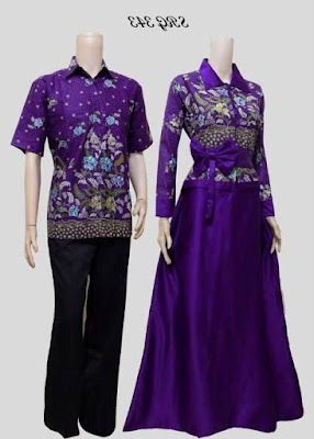 Model baju batik muslim couple modis