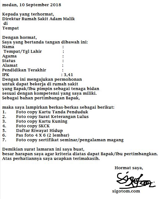 contoh surat lamaran kerja bidan di puskesmas ben jobs