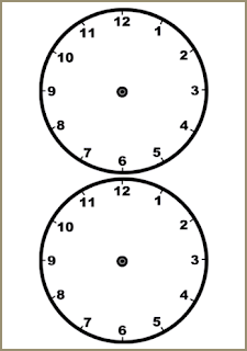 Analog Clocks Template #EXPOTeacherWin