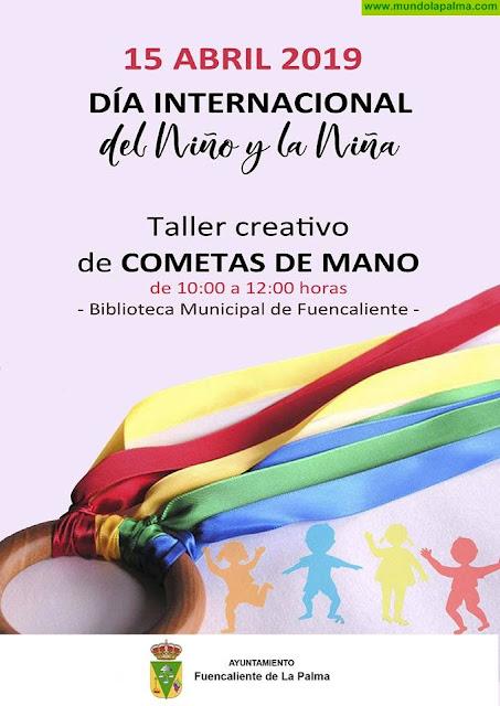 Taller creativo de cometas de mano en Fuencaliente