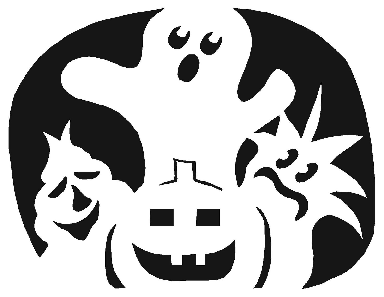 Carving Templates Free. free scary halloween pumpkin carving ...