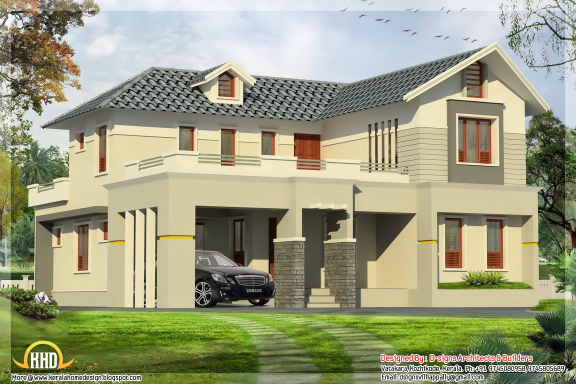 4 Bedroom India House Plan 2800 Sq Ft Kerala Home