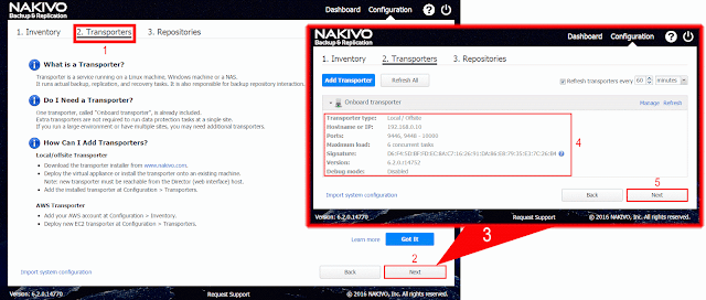 Nakivo Backup & Replication - Despliegue del Transporter.