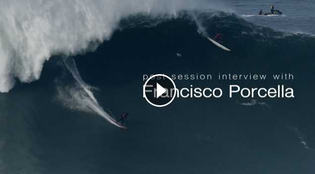 Post Session Interview with Francisco Porcella - Nazare - 2016 12 22