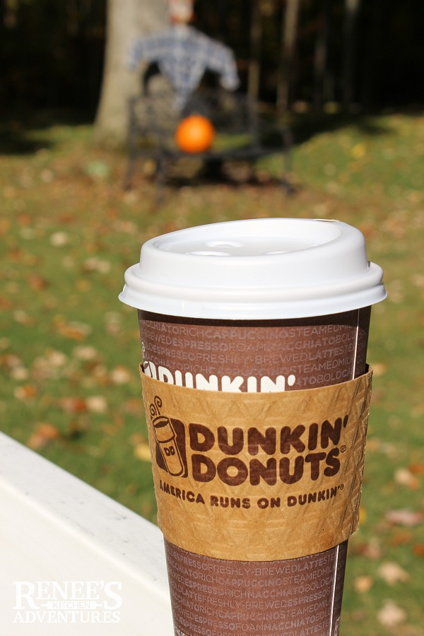 Best Salted Caramel Latte - Dunkin' Donuts beverage served hot or cold perfect Fall flavor | Renee's Kitchen Adventures review