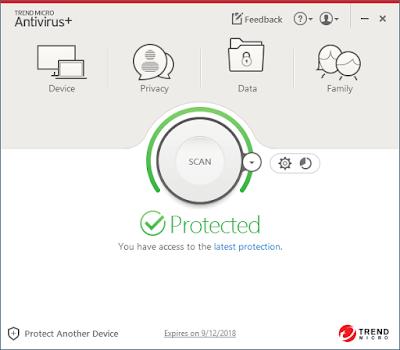 Screenshot Trend Micro Antivirus+ 2018 Full Version