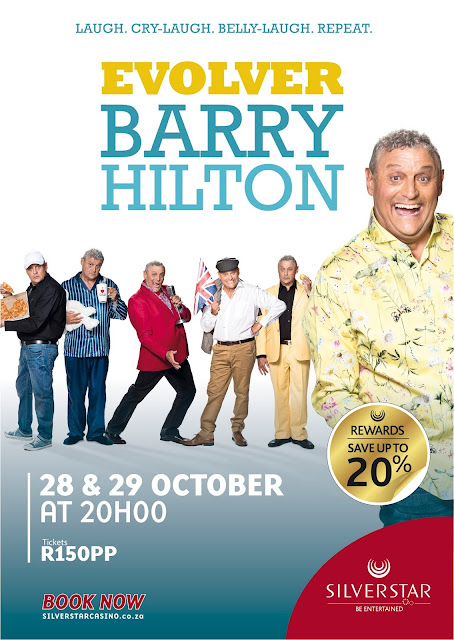 Barry Hilton with @SilverstarZA Casino This #October @TsogoSun #Jozi