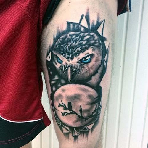 erkek üst bacak dövme modelleri man thigh tattoos 21
