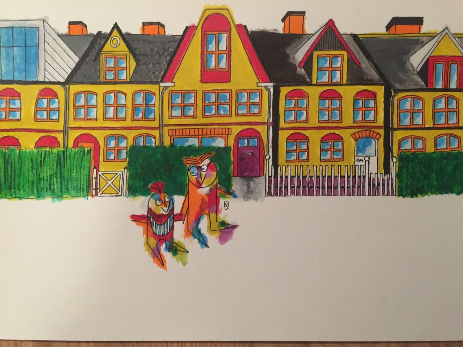 a7b1ebf228fa Her er Bo med sin far Anton foran deres hus på Østerbro (jeg skal over for  kunstneren beklage inscanningskvaliteten. Billedet er knipset med en  mobiltelefon ...