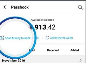 paytm to bank money transfer