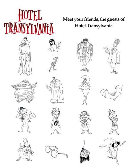 Laminas Para Colorear Coloring Pages Hotel Transylvania