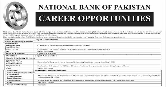 National Bank of Pakistan (NBP) Jobs 2019 Apply Now