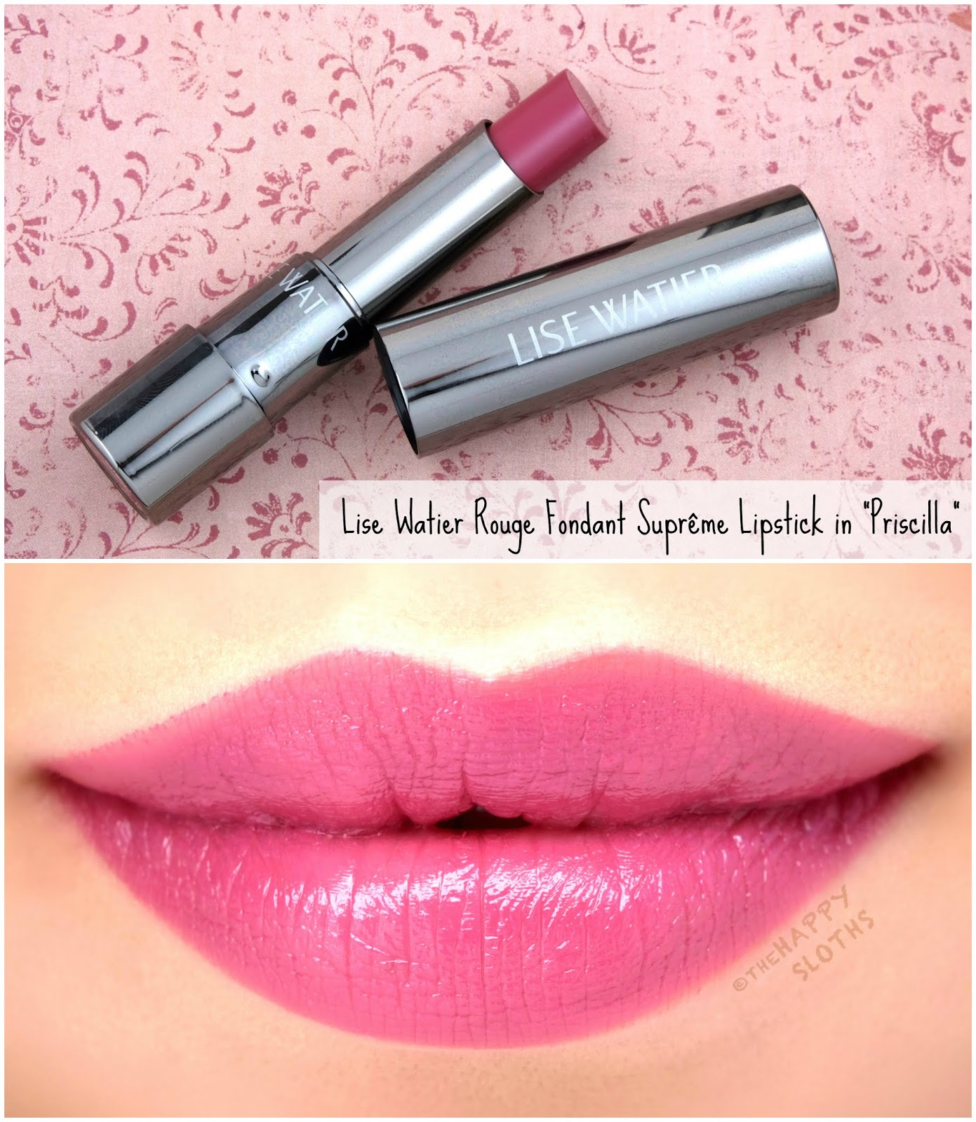 "Lise Watier | *NEW SHADES* Rouge Fondant Suprême Lipstick in ""Priscilla"": Review and Swatches"