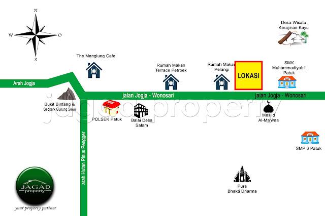 Tanah Strategis jalan Wonosari Km 23