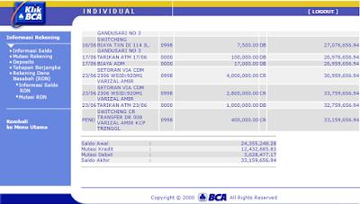 Detail Transaksi BCA