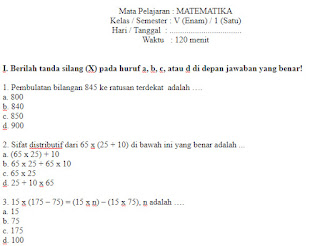 Soal-UKK-UAS-Matematika-kelas-5-SD-Semester-1