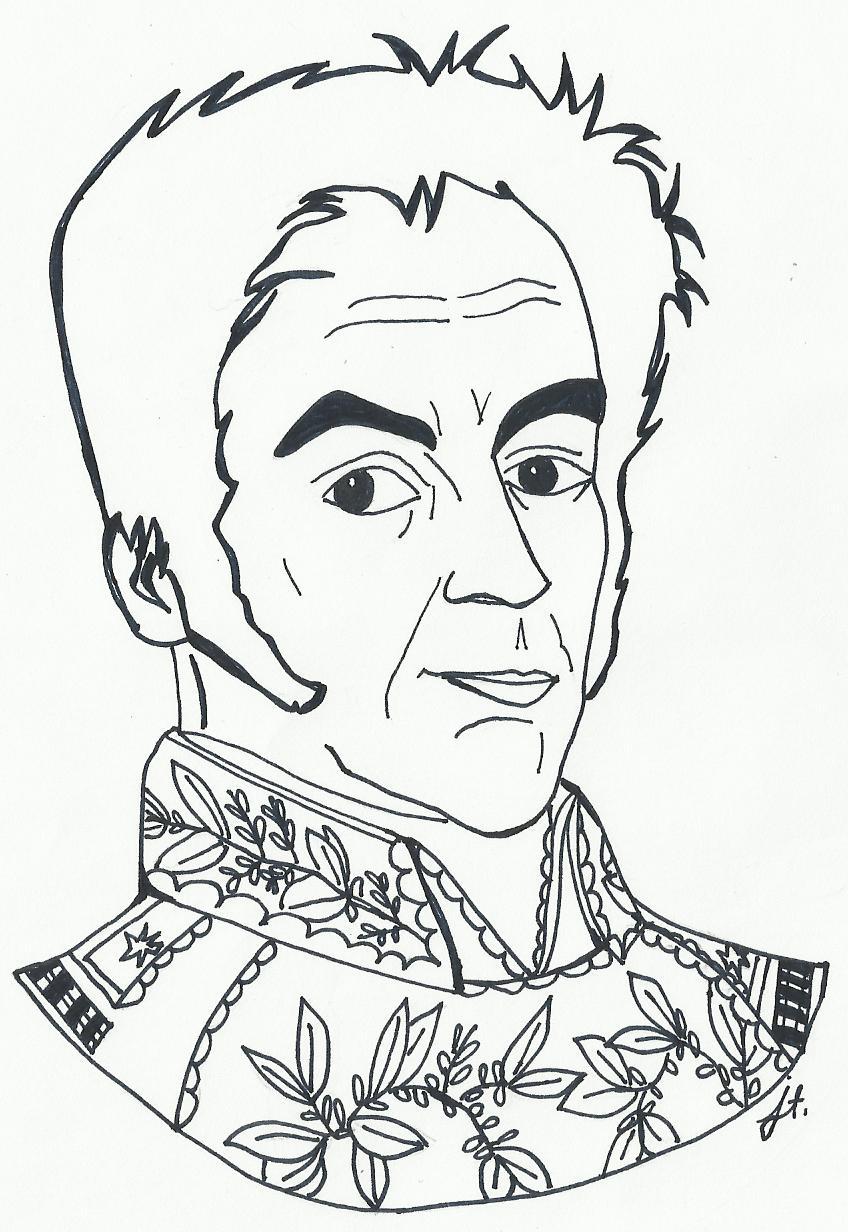 Simon bolivar para dibujar