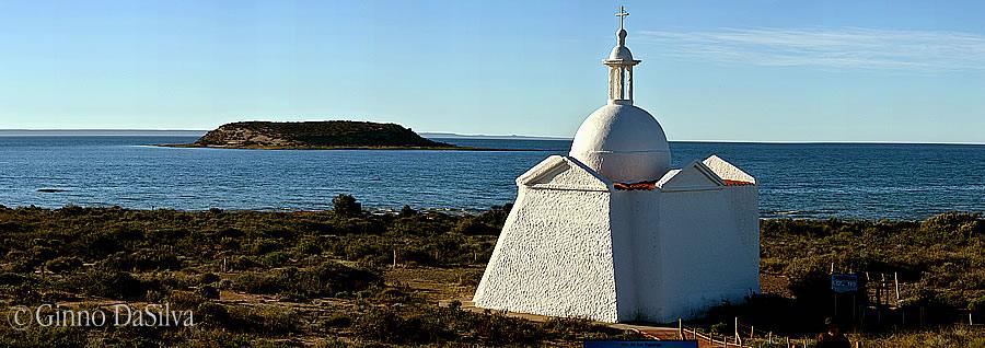 Isla de los Pájaros Capilla réplica de la capilla del Fuerte San José
