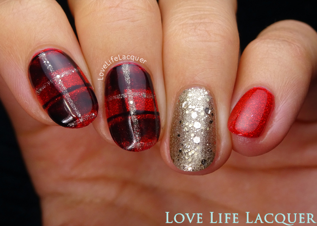 Pink Gellac Glamourize Nail art