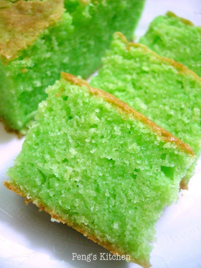 Moist Pandan Butter Cake Recipe