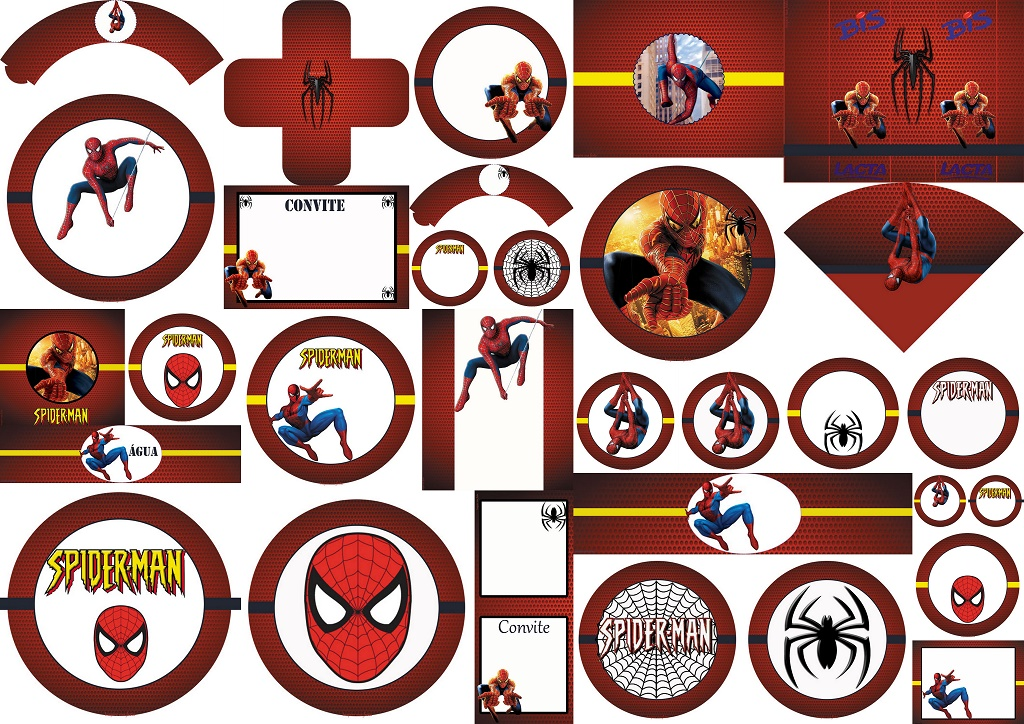 Spiderman Free Printable Labels, Free Party Printables and