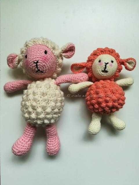 ovejas a crochet