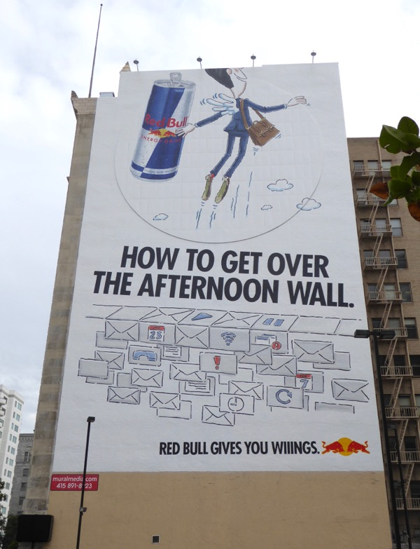 Red Bull afternoon wall billboard