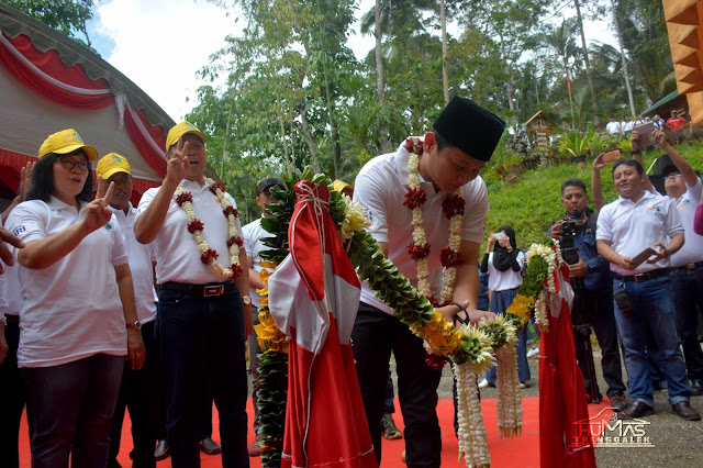 Wabup Arifin Luncurkan Ecowisata Canopy Banyunget, Desa Dukuh Watulimo