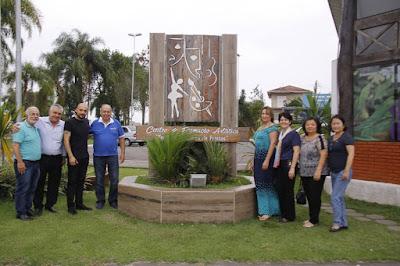 Governador do Rotary Internacional visita o Centro de Formação Artística de Registro-SP
