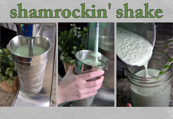 Combine all ingredients and blend until smooth then serve your shamrock shake and enjoy.
