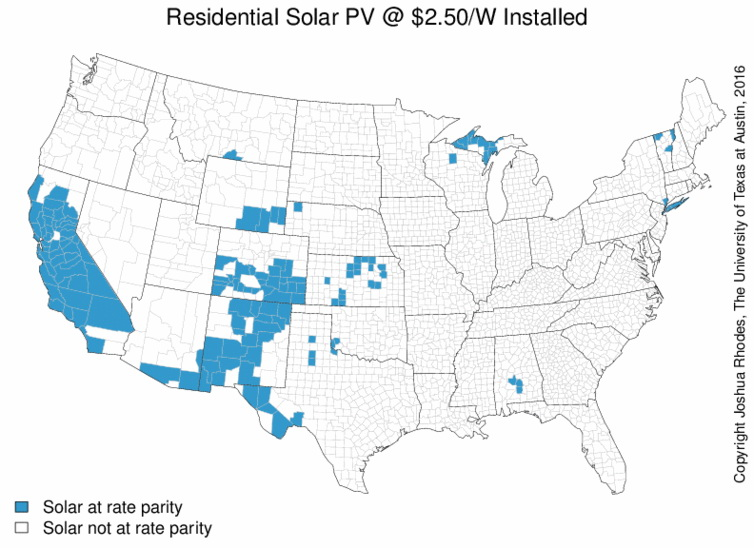 When will rooftop solar be cheaper than the grid?