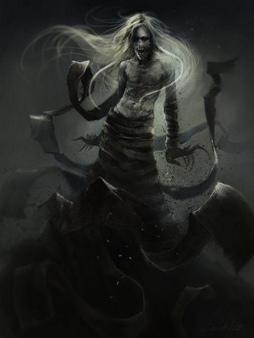Ania Mitura DalisaAnja deviantart ilustrações fantasia sombria Shadow