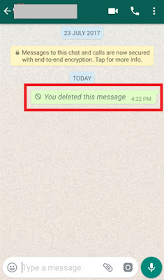 delete whatsapp message sent by mistake