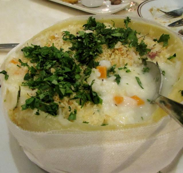 queijo da serra recheado com arroz