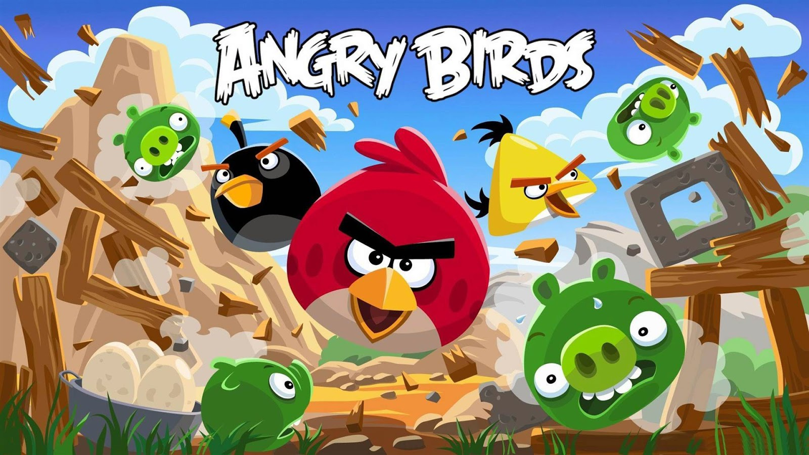 Angry Birds Background wallpaper