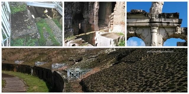 particolari dei otterranei dell'anfiteatro di Santa maria Capua Vetere