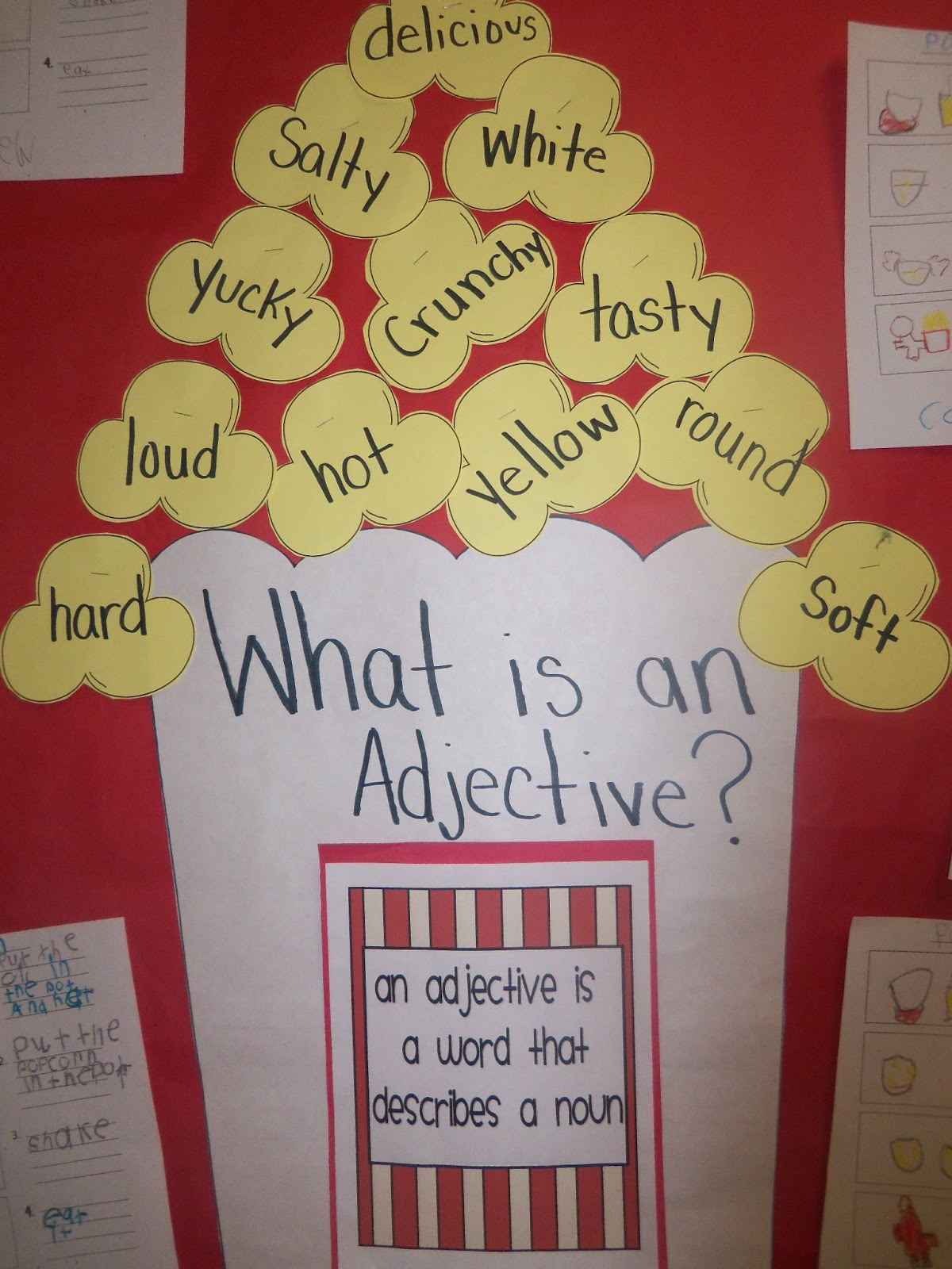 Mrs Wood S Kindergarten Class Popcorn Adjectives And