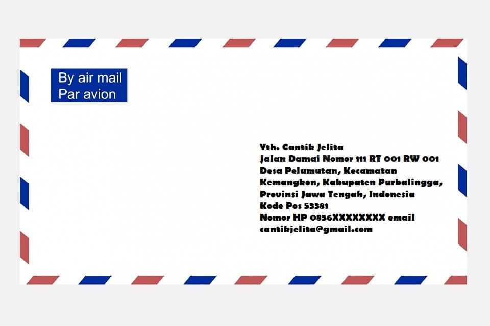 cara menulis alamat paket yang benar