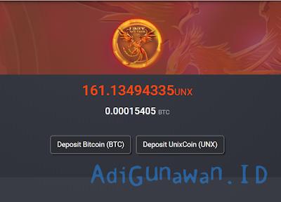 fitur exchange UNIXCOIN