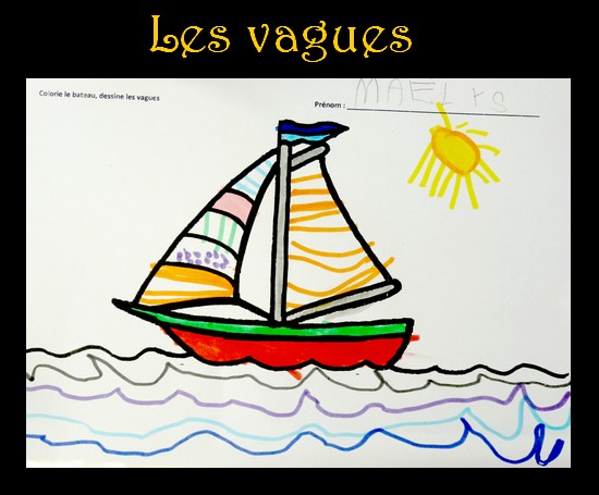 nouvelles promotions offres exclusives remise spéciale Le Journal de Chrys: Des vagues en maternelle