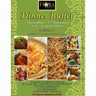 Buffet Ramadhan | Flora Terrace, Hampshire Place