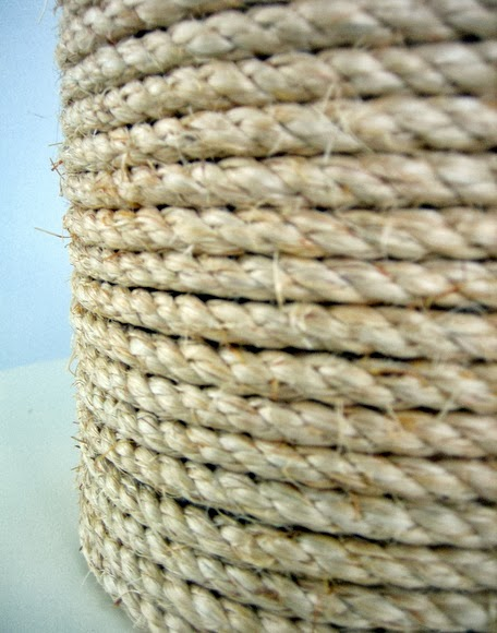 make sure the layers of rope are close enough together so you don't see any metal or glue