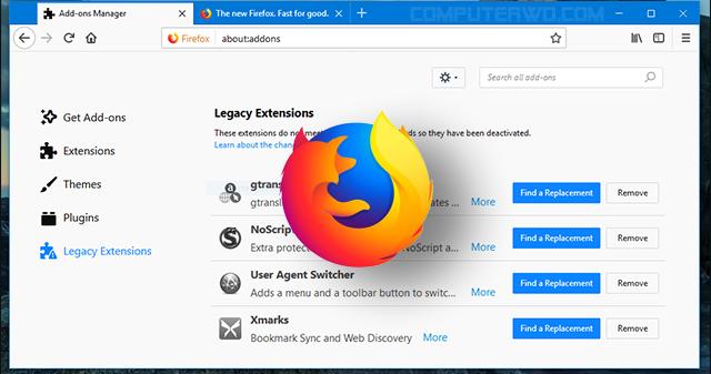 كيف تستخدم الإضافات القديمة بعد تحديث فايرفوكس الجديد عالم