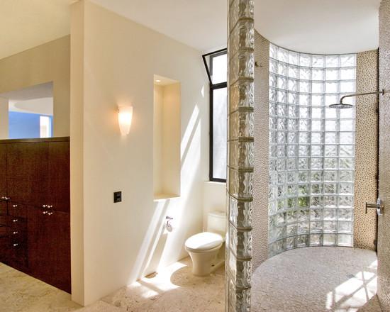 LUV DECOR Decorar com tijolo de vidro -> Decoracao De Banheiro Com Tijolo De Vidro