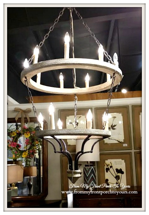 Laurie's Home Furnishings-Rustic Chandelier- From My Front Porch To Yours