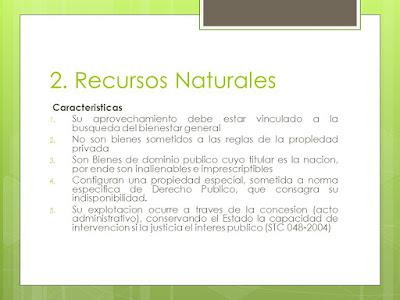 Características de los Recursos Naturales