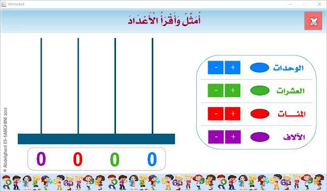 المستوى الثالث ابتدائي:مورد رقمي هام لتمثيل و قراءة الأعداد