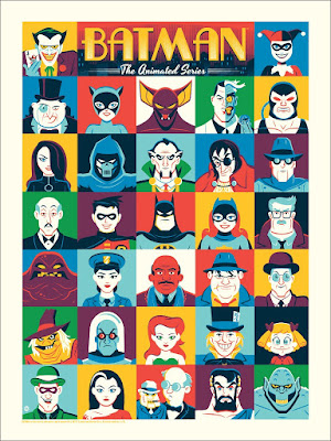 Batman: The Animated Series Screen Print by Dave Perillo x Mondo