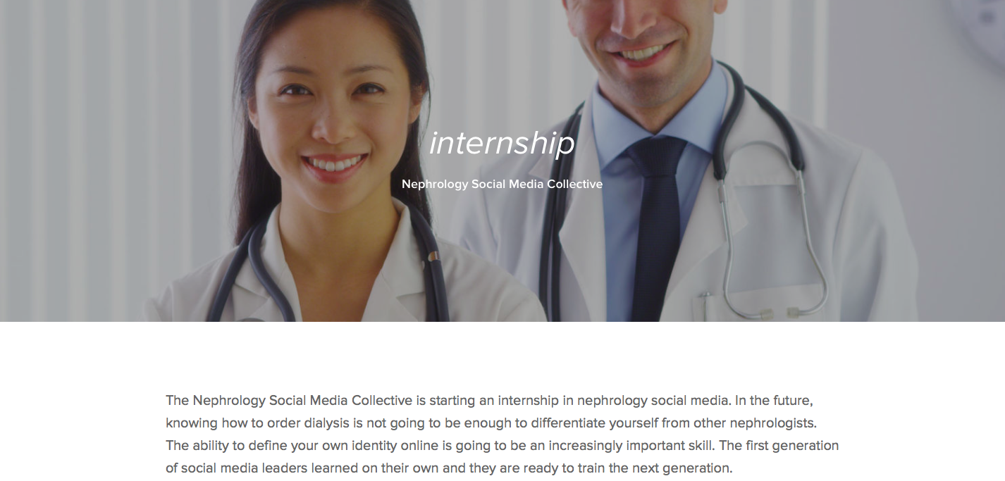 The first Nephrology Social Media Internship